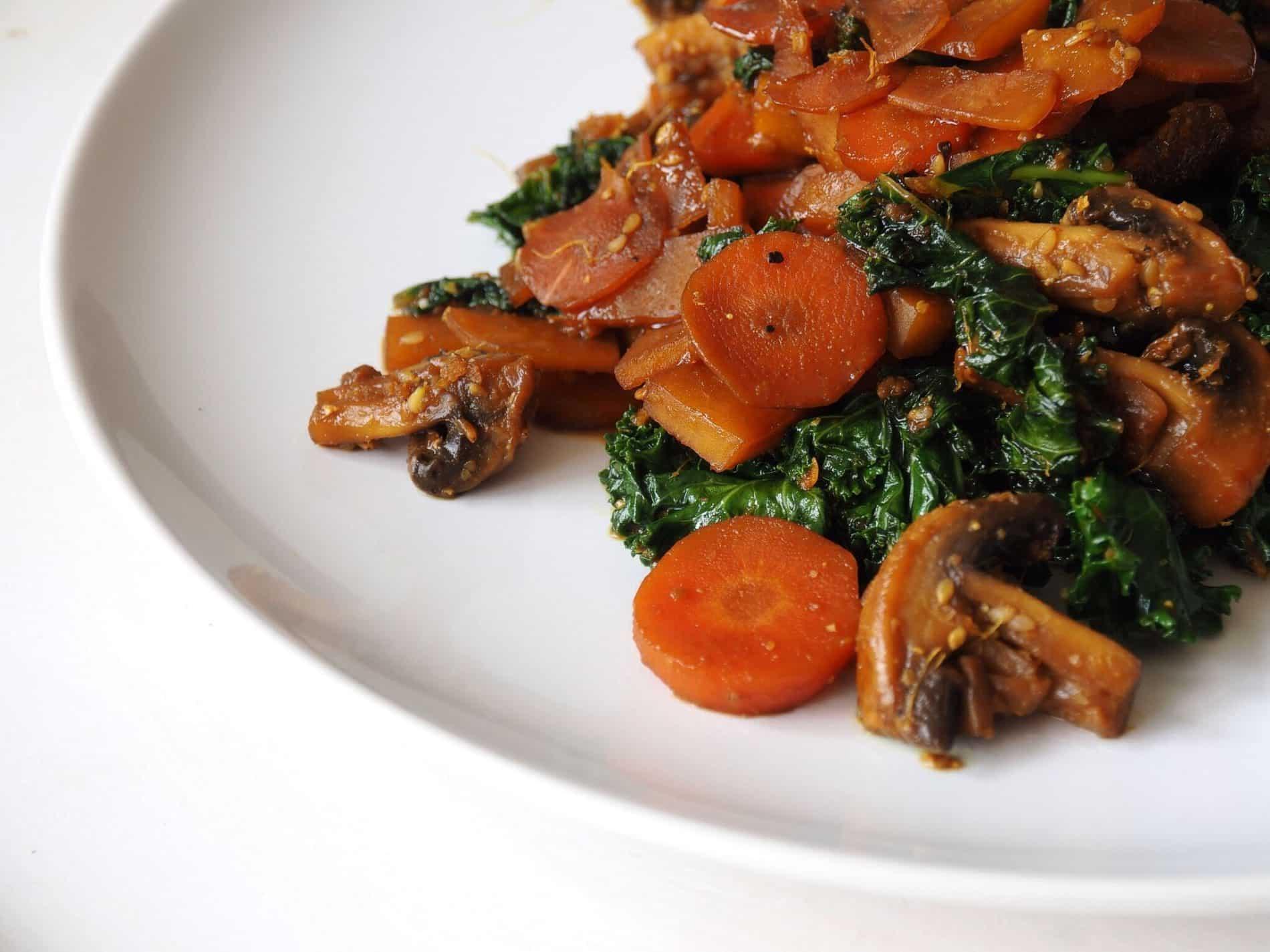 Ingwer Tamari Gemüse