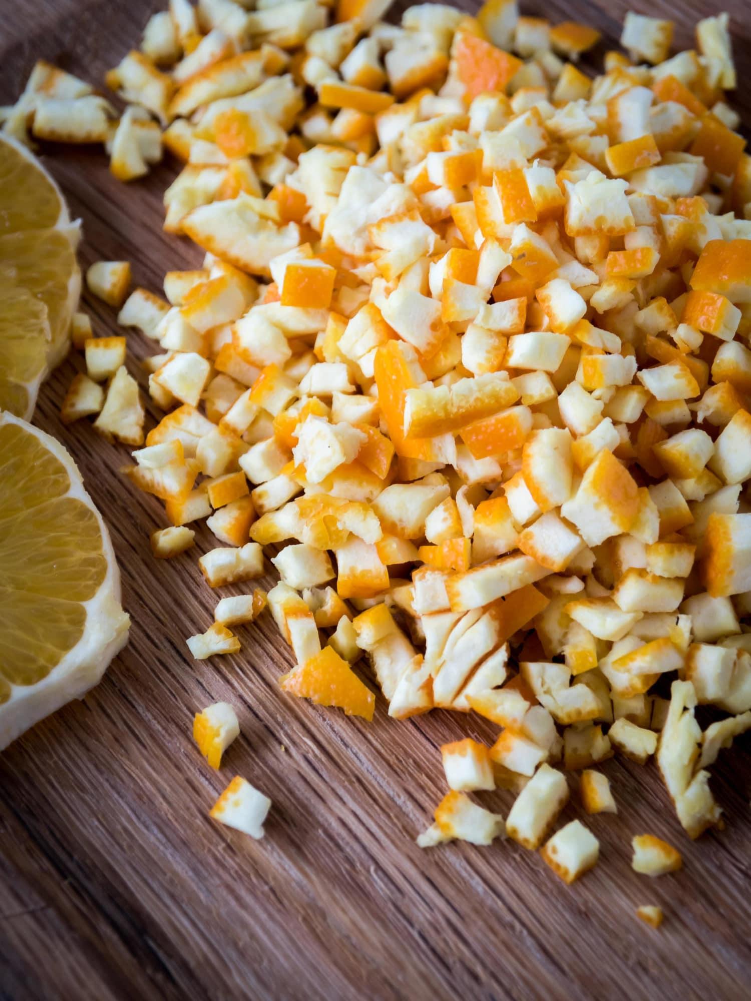 Bio Orangen zum Orangeat selber machen