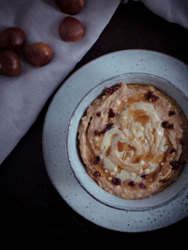 Buchweizen Pudding mit Maronen ... - Plantiful Skies