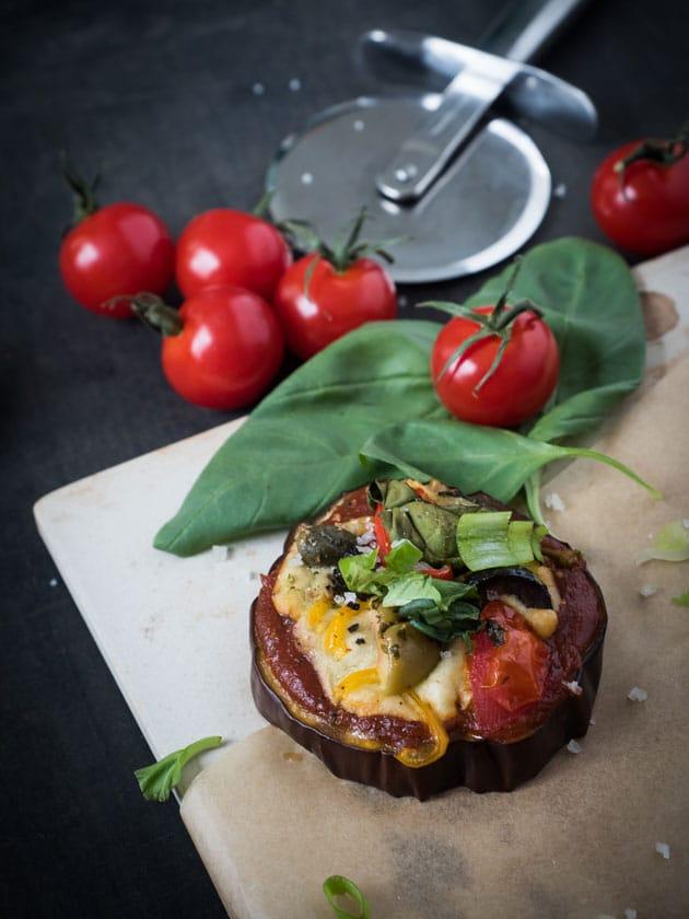 Sunday Soulfood: Pizza Bites aus Auberginen