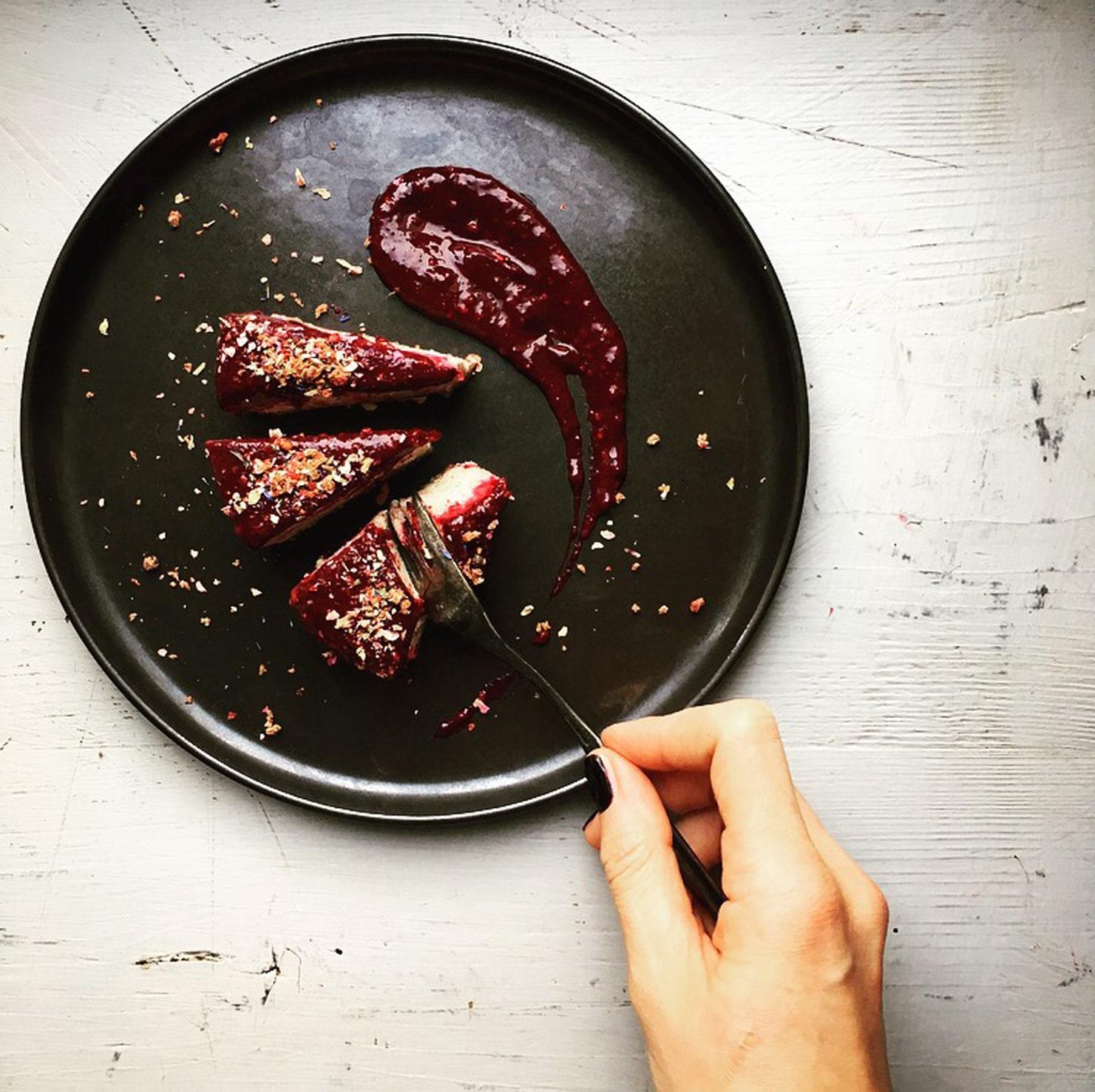 Food by Friends: Maries roher Erdmandel Cheesecake.