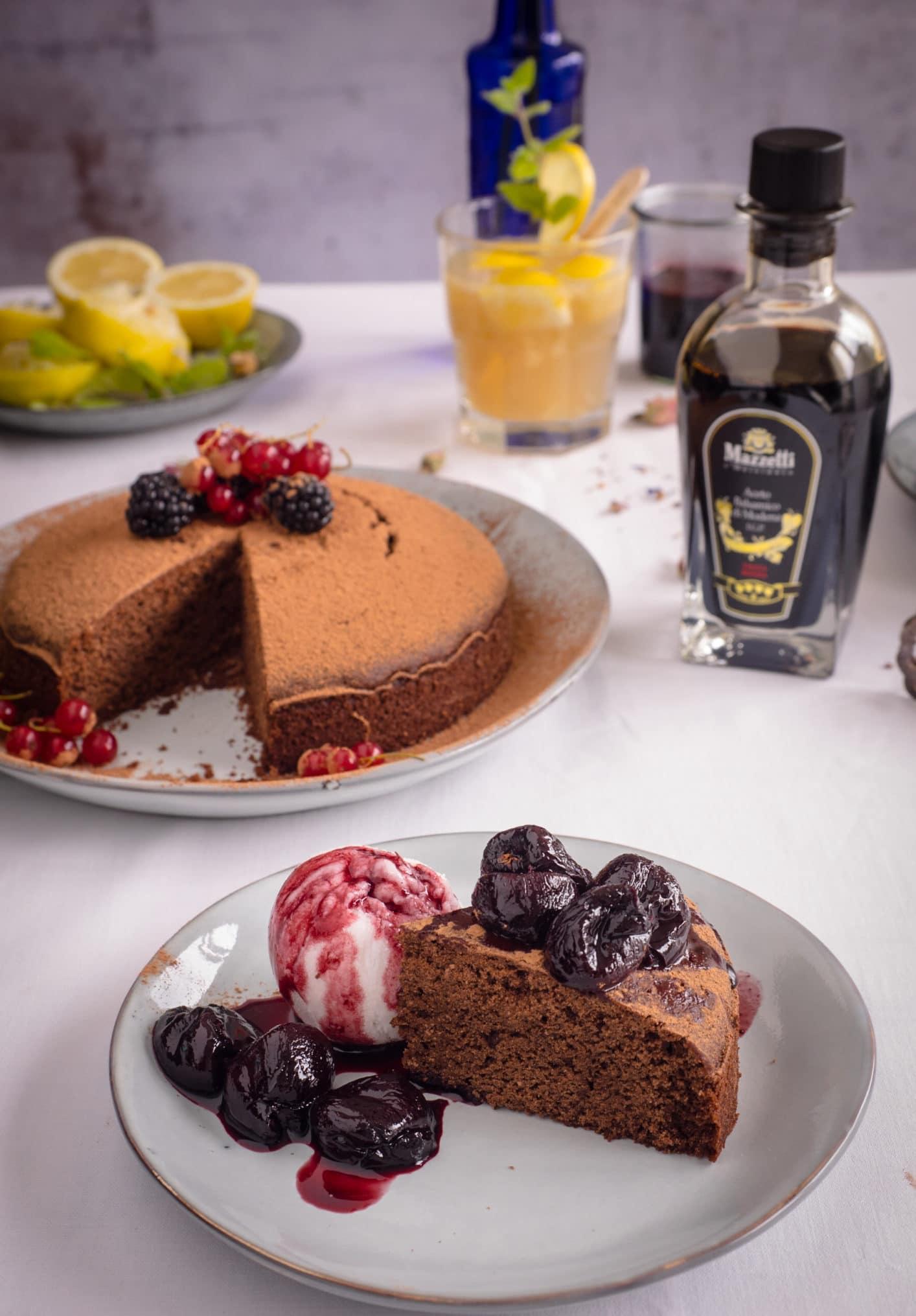 Schokoladen Kuchen mit Mazzetti l'originale