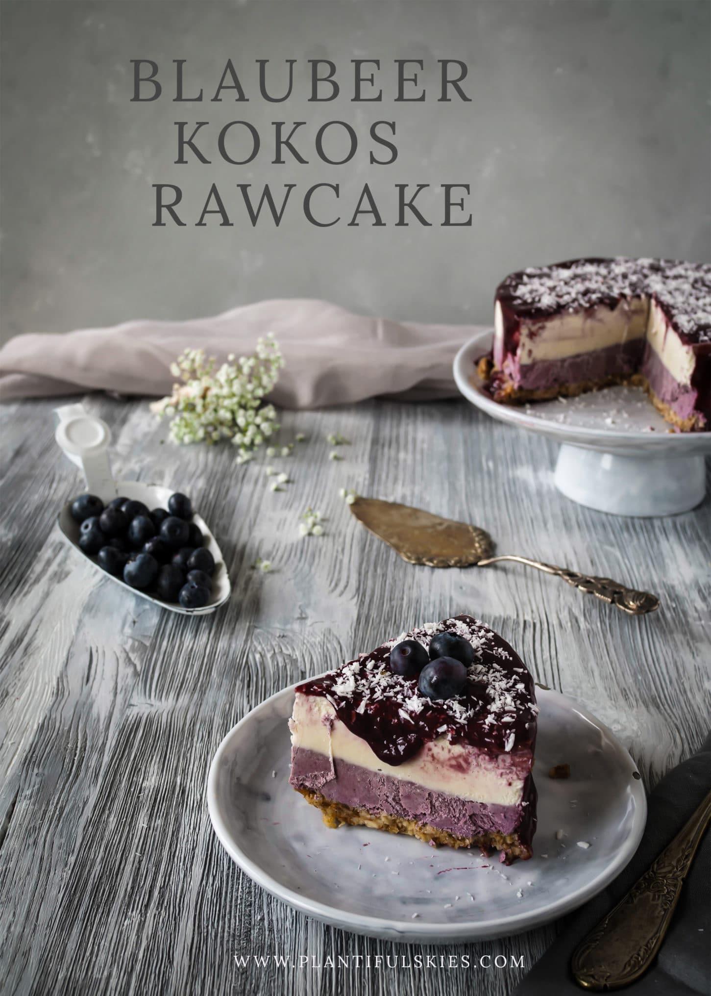 blaubeer kokos Rawcake
