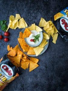 Chio Tortillas mit Paneer Sauvce vegan