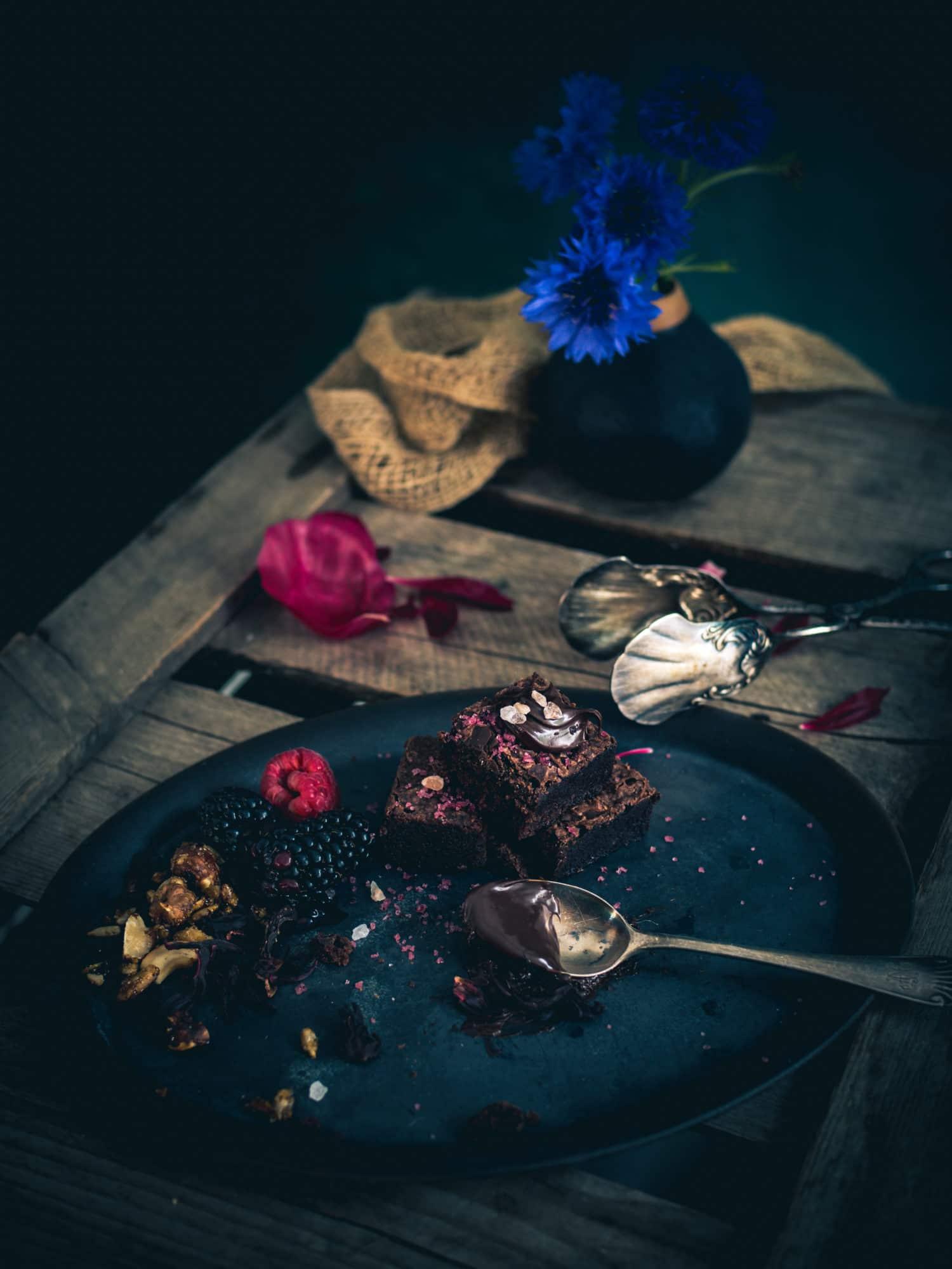 schokoladige Dinkel Brownies mit Meersalz