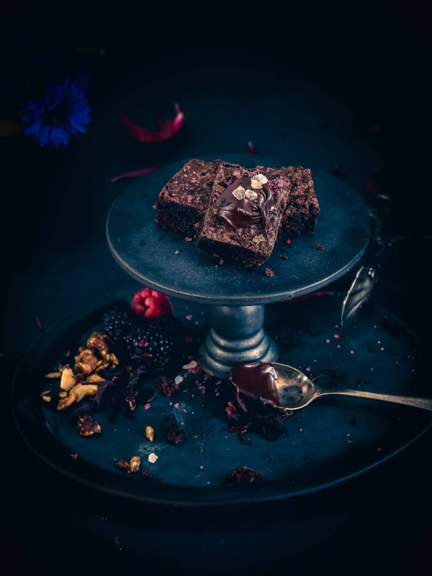 Dinkel Brownies mit Meersalz