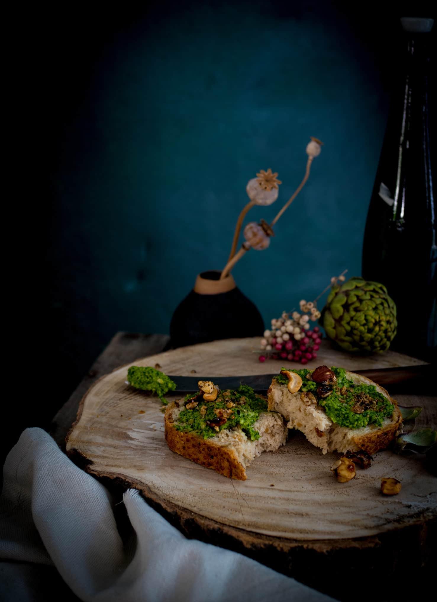 Grünkohl Pesto mit Artischocke