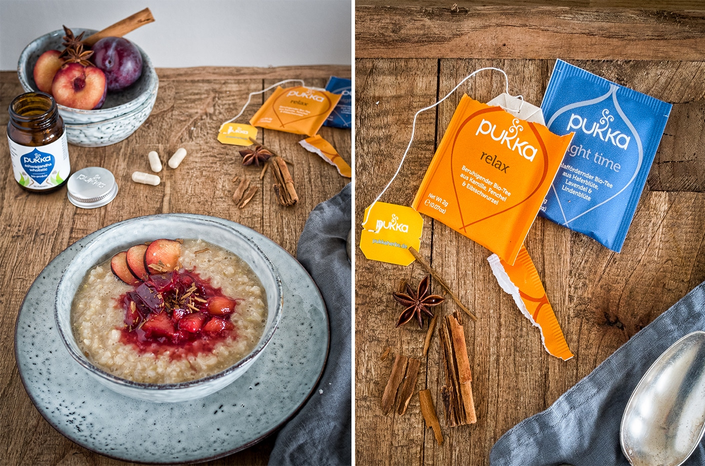 Ayurveda Porridge mit Pukka Herbs Ashwagandha