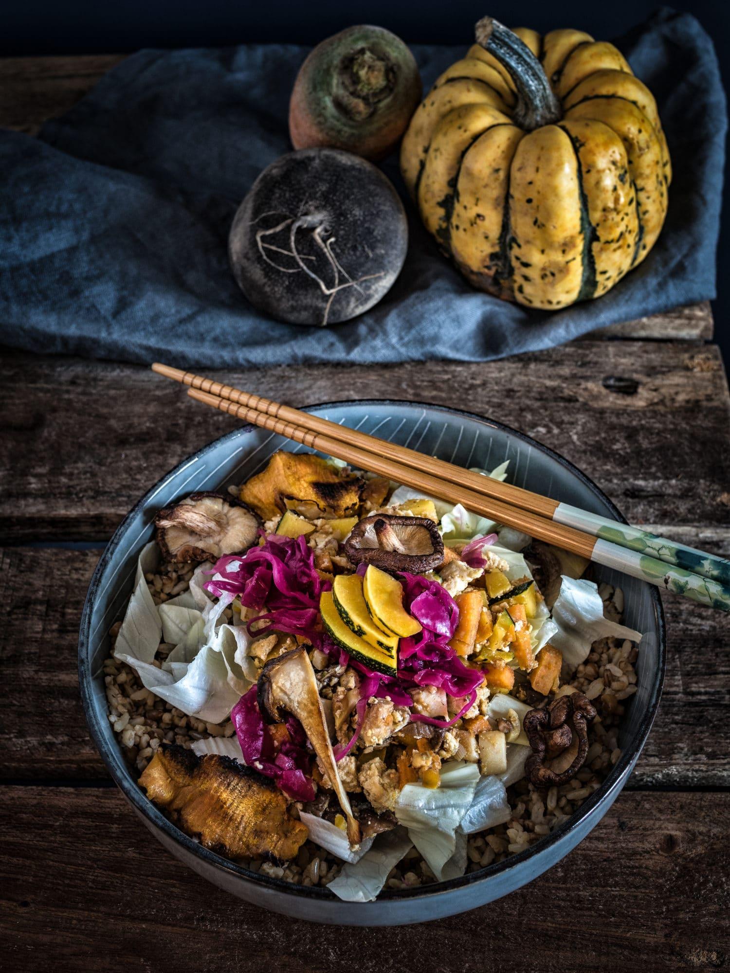 Koreanisch vegan: Sangchu Ssam mit reis-fit
