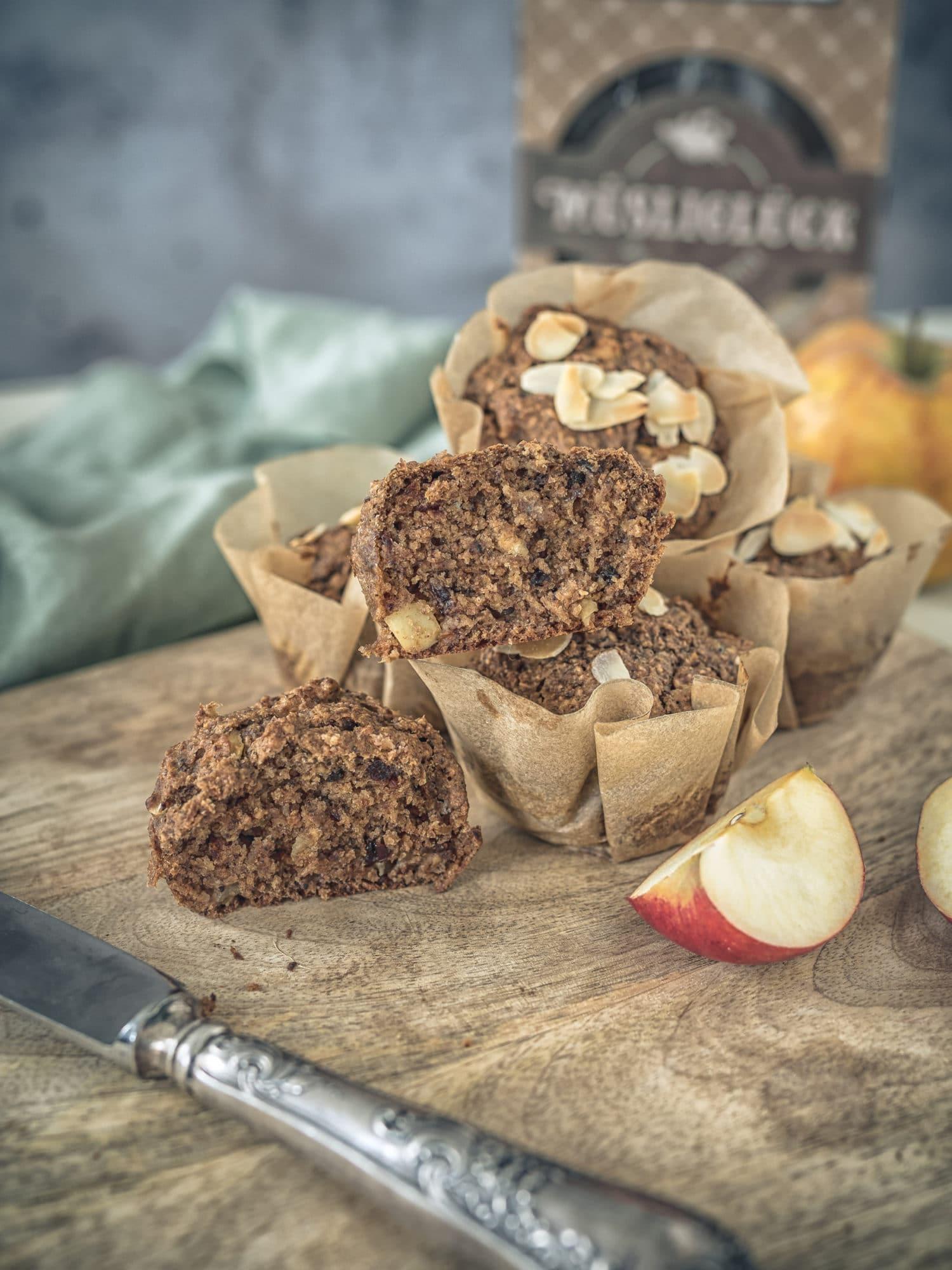 Porridge Muffins mit Muesliglueck backen