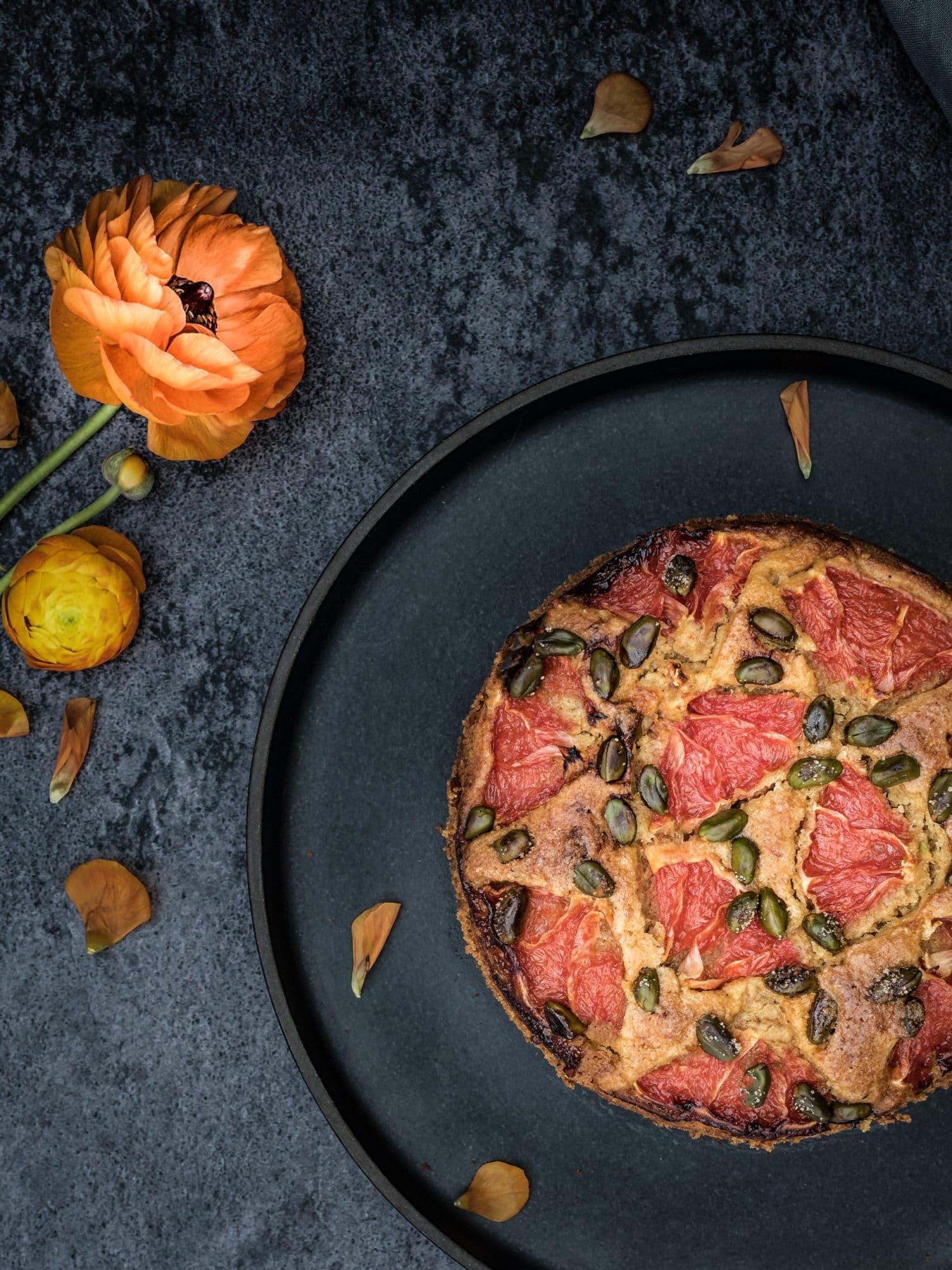 veganer Grapefruit Kuchen