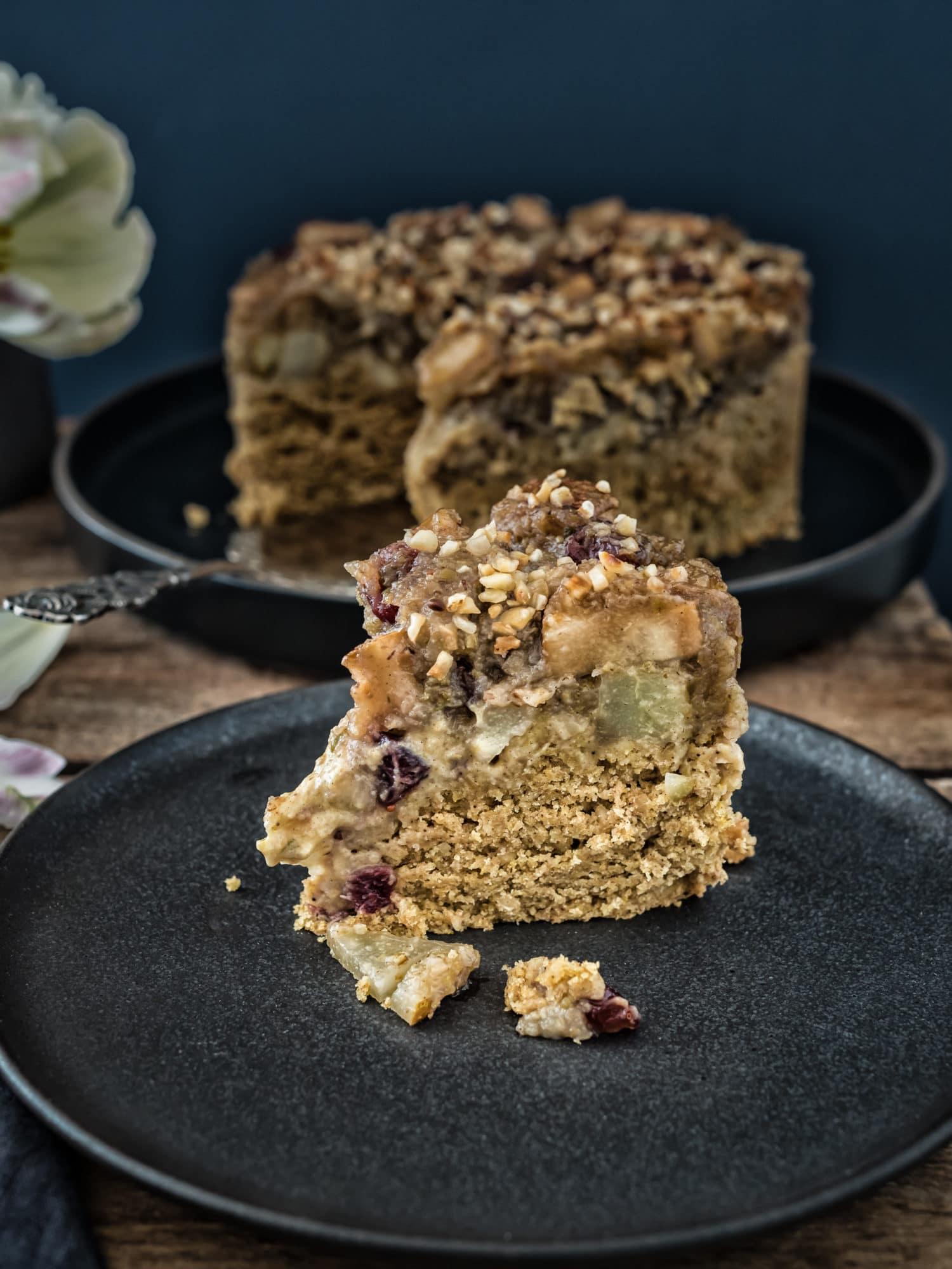 Birnen Klietsch Kuchen mit Gewürzen