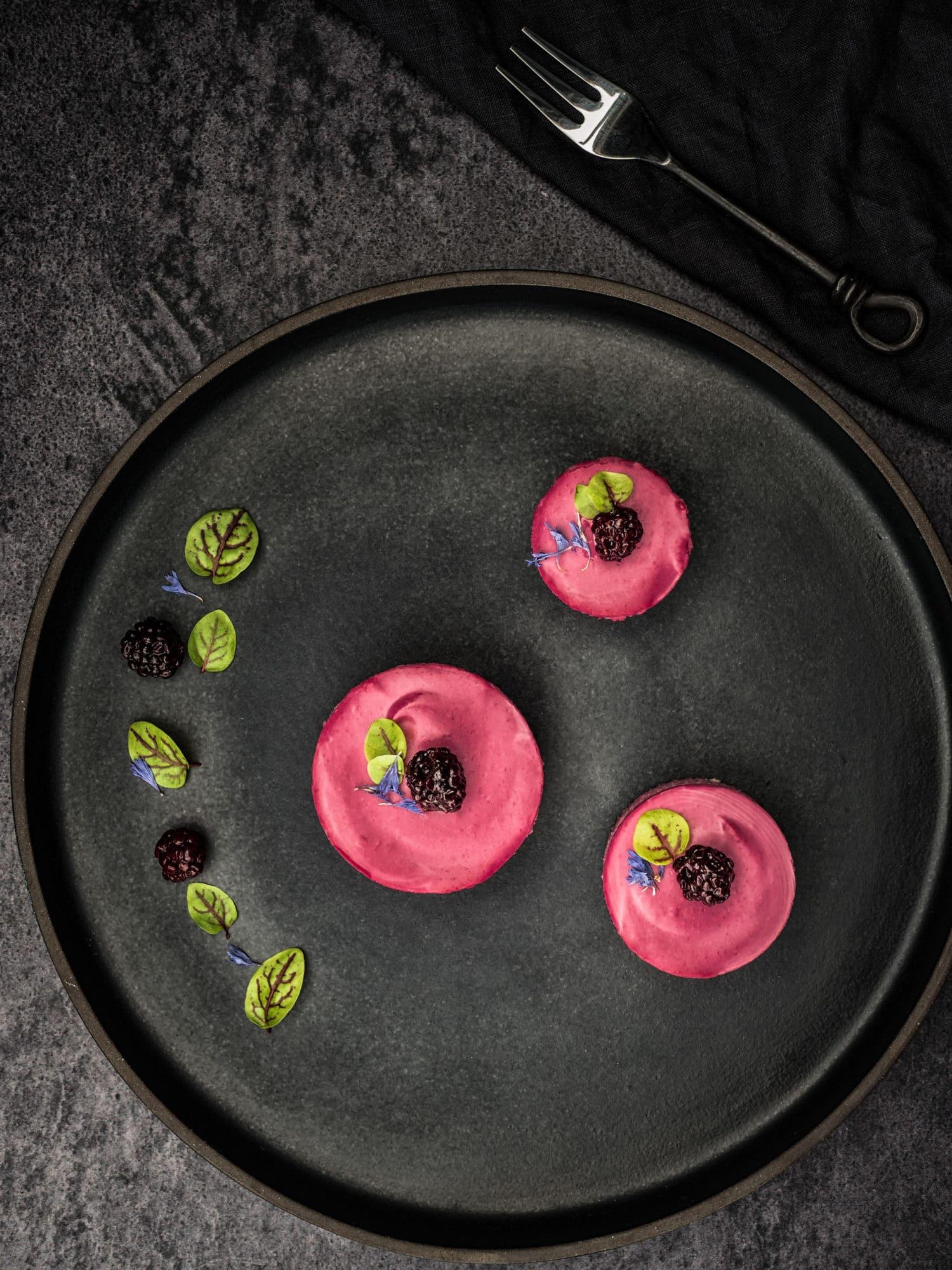 Mini Chesecakes und fermentierte Beeren