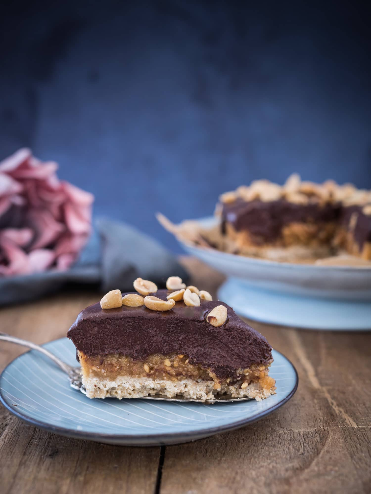 No Bake Erdnussbutter Frischkäse Kuchen