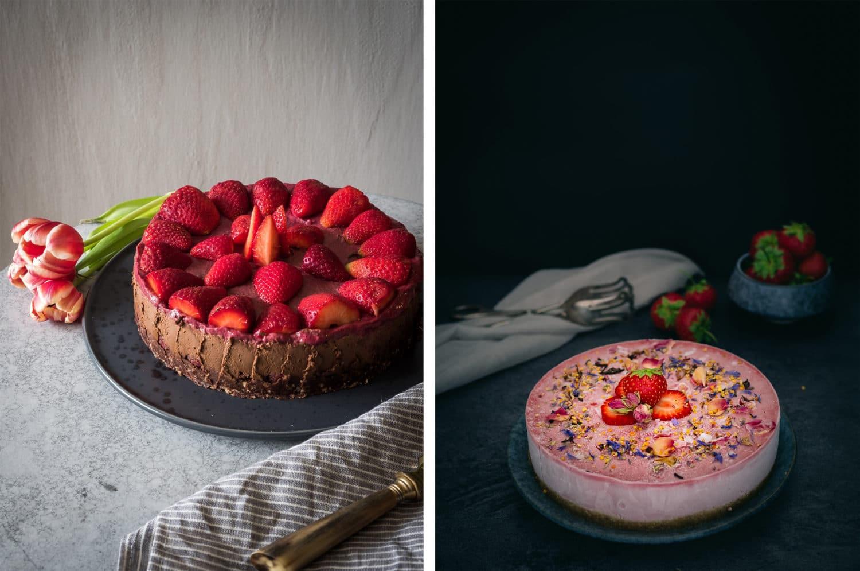 Vegane Rezepte mit Erdbeeren: Kuchen