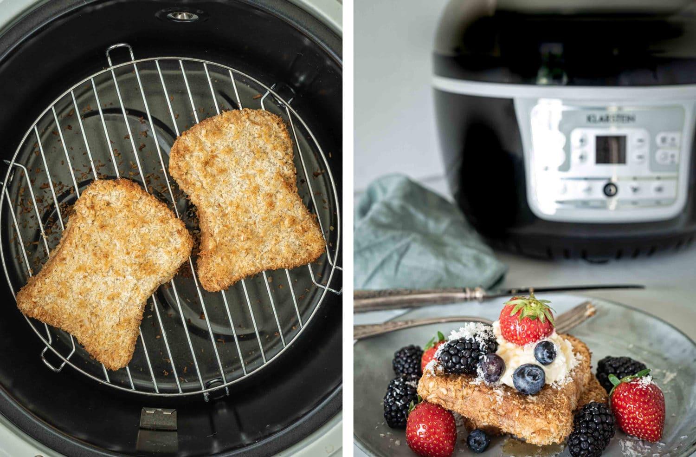 veganer French Toast mit der Klarstein VitAir Turbo Heißluftfritteuse