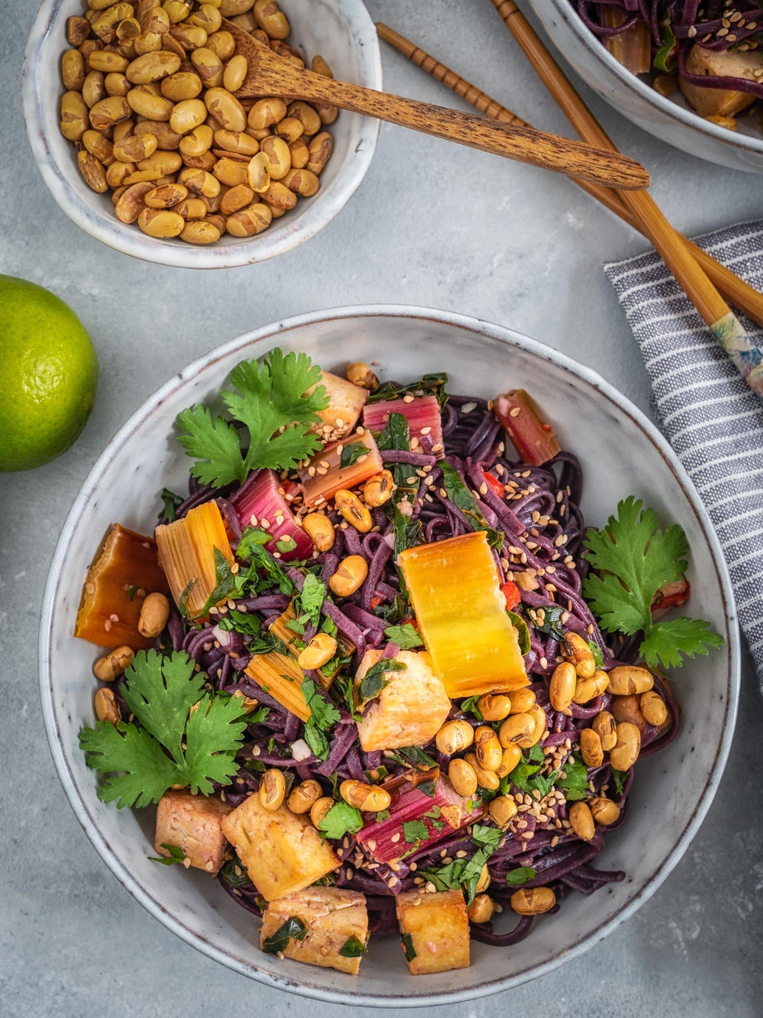 Reisnudel Bowl vegan. Perfekter Meal Prep