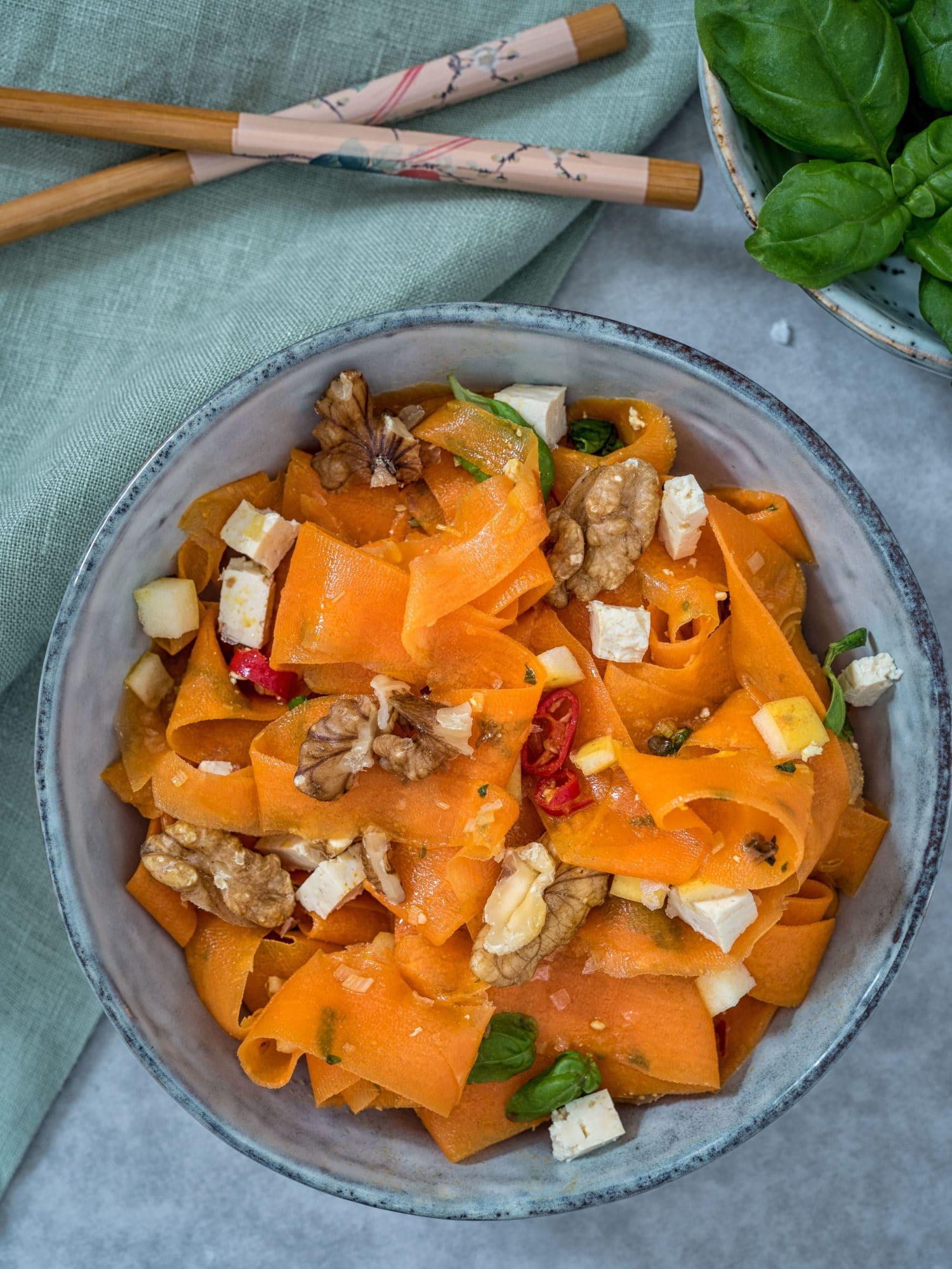 Ayurveda Karottensalat, perfekt für Meal Prep