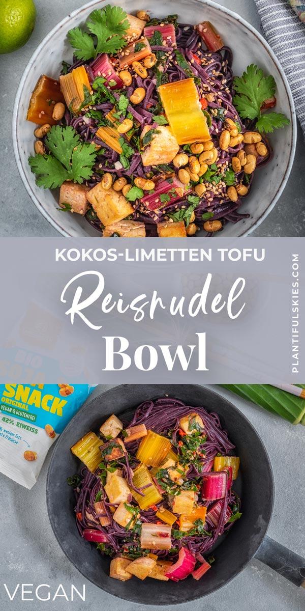 Vegane und glutenfreie Reisnudel Bowl