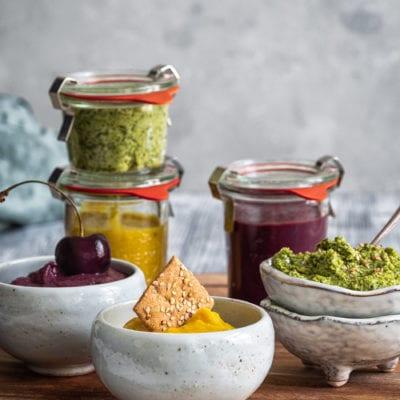 | Werbung | Drei Dip Rezepte to go mit Vollkorn Snacks von Dr. Karg´s