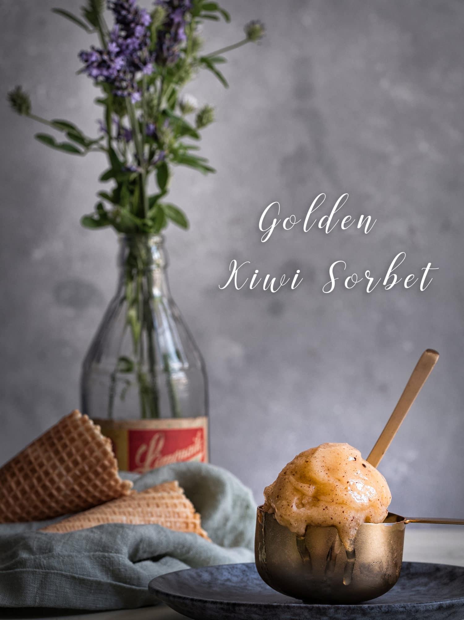 Kiwi Sorbet selber machen. Sorbet Rezept