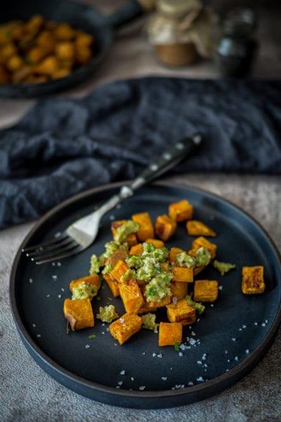 Ayurvedische Süßkartoffeln mit Mojo Verde- veganes ayurveda Rezept
