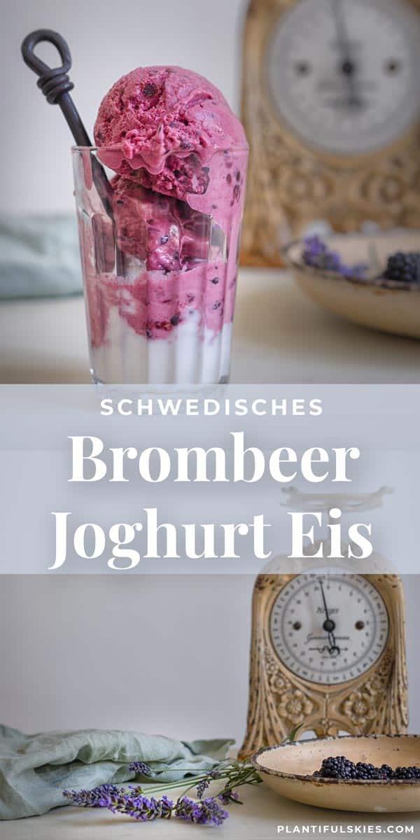 Veganes Brombeer Joghurteis Pinterest Grafik