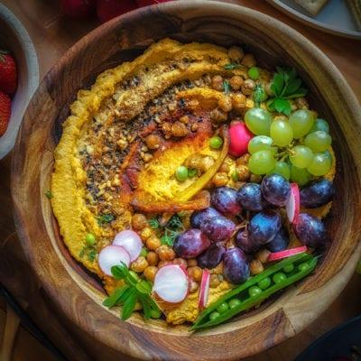 Kürbis Rezept: Ofen gerösteter Hokkaiodo Hummus