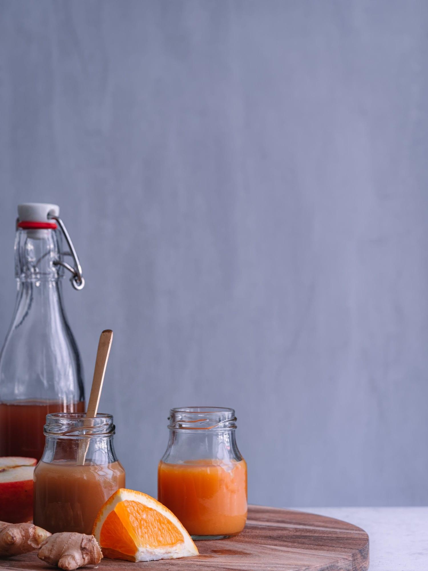 Ingwer Shot - drei Rezepte . veganer Foodblog #happymoodfood