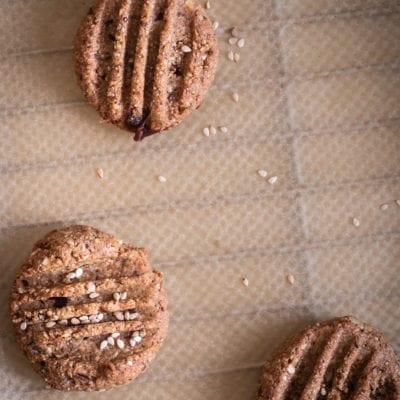 Kekse backen mit Tahin & Kardamom – Nussfrei & glutenfrei & Phytovitamine von GSE bei Stress und Depressionen