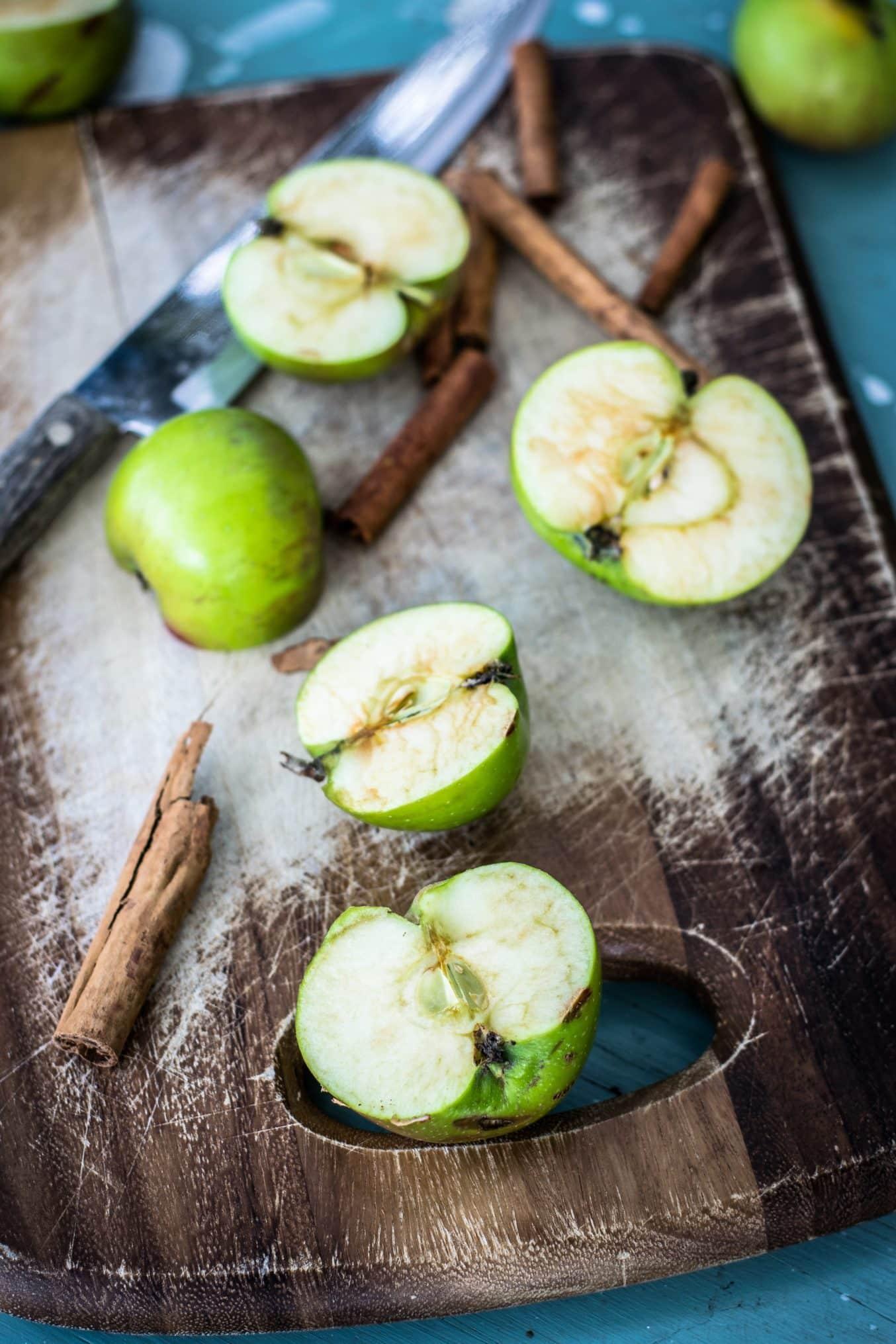 Grüne Zimt Äpfel .Ein Rezept zum Einkochen