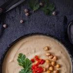 Hummus Suppe- gesundes einfaches Rezept