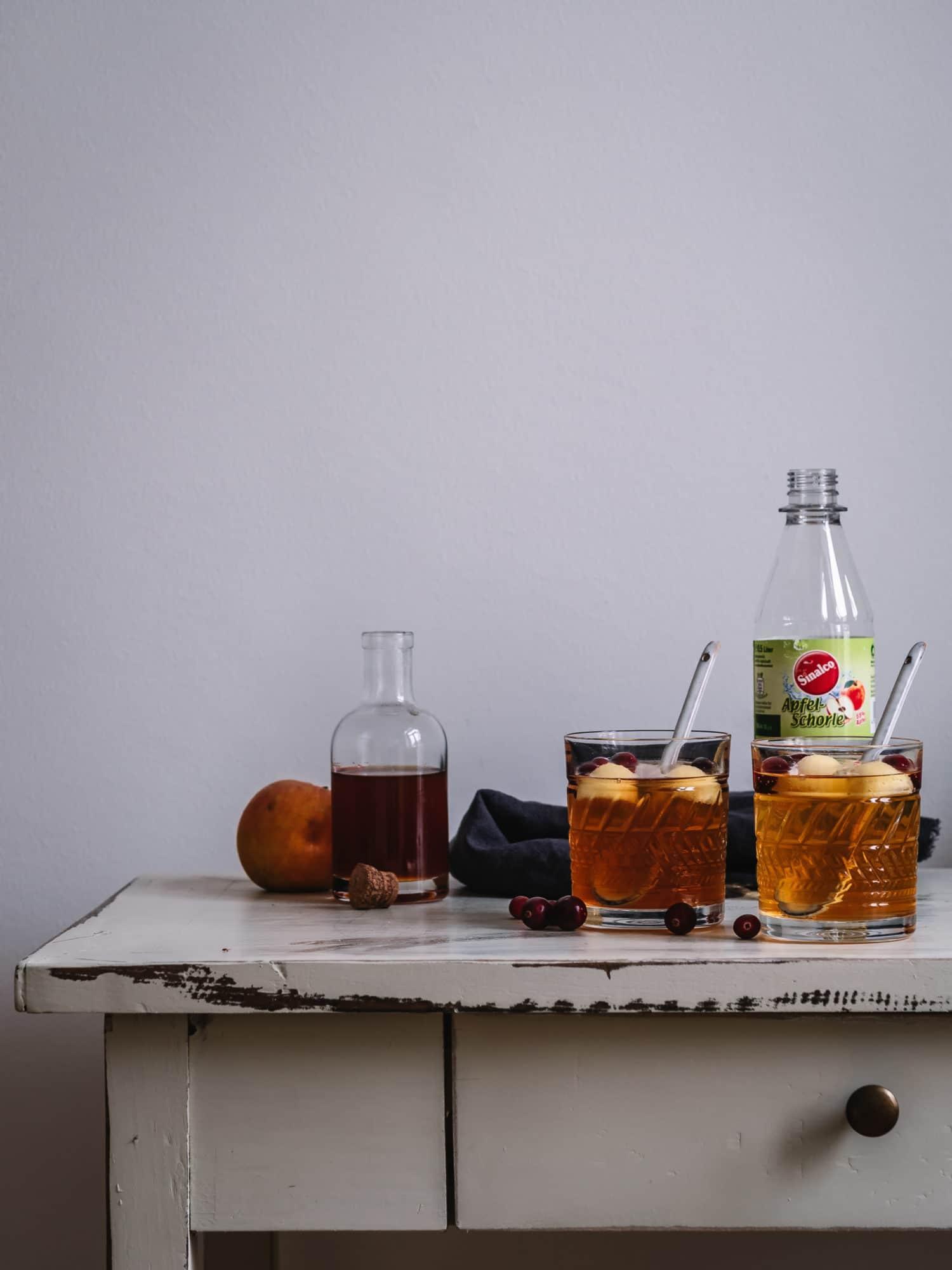 alkoholfreie bowle aus Sinalco Apfelschorle