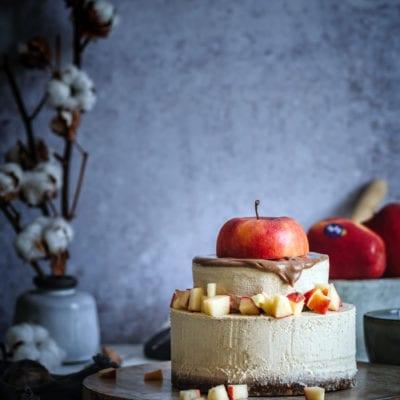 Salzkaramell & Äpfel, der No Bake Cake für den Winter