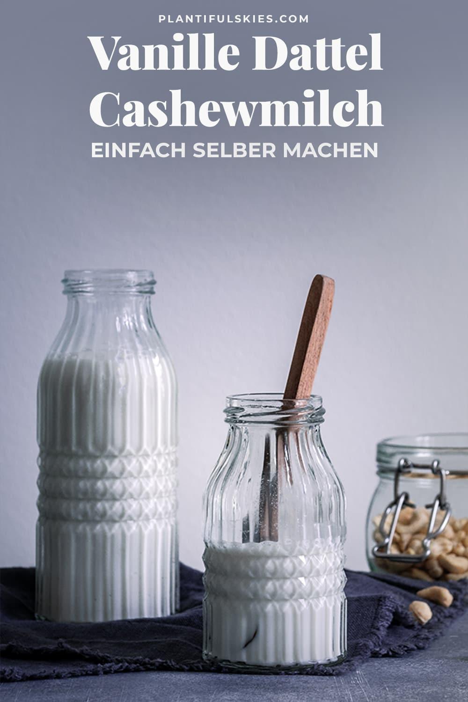 Cashewmilch Rezept. Cashewmilch einfach selber machen. Funktioniert auch als Mandelmilch. #gesund #vegan #nussfrei #happymoodfood
