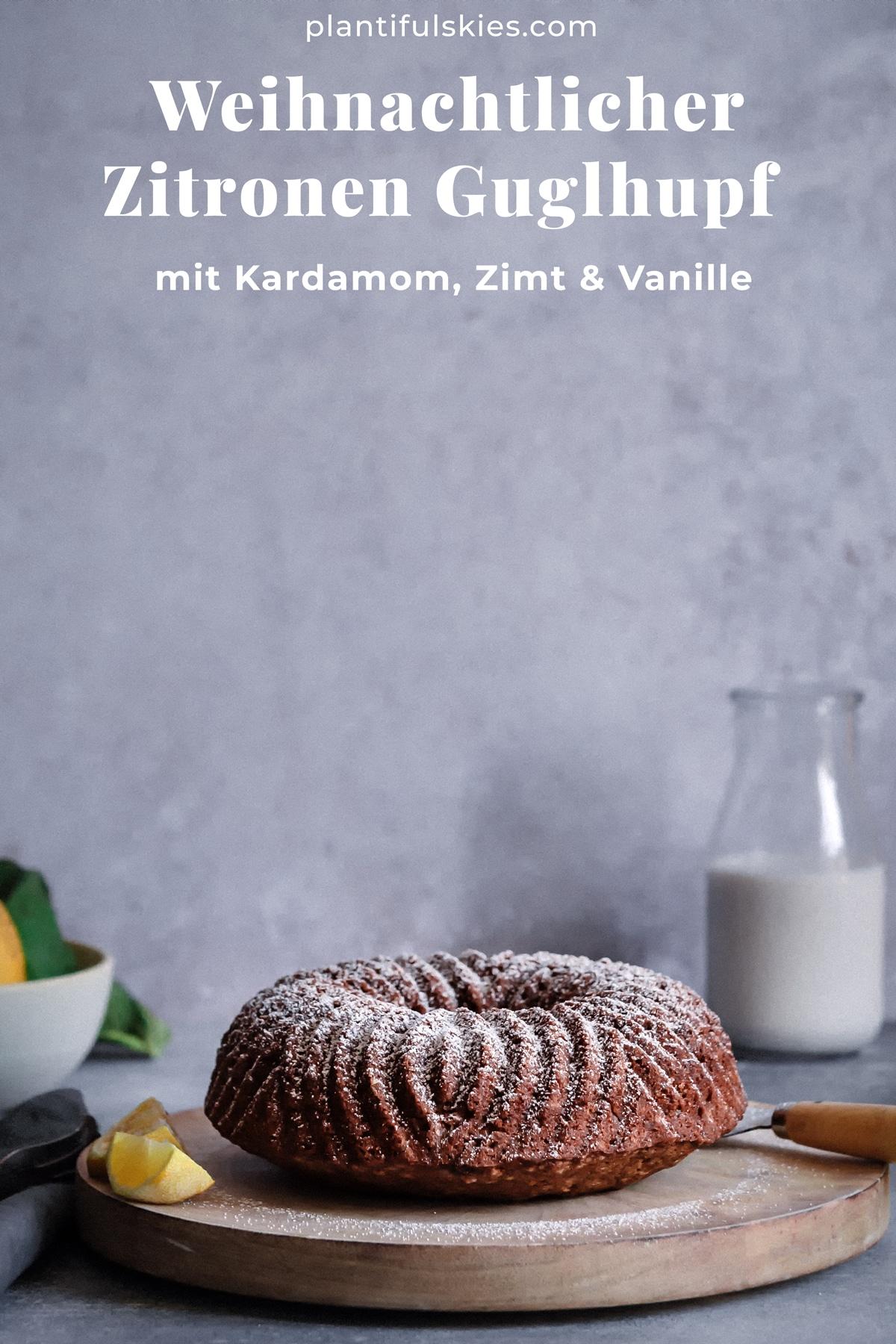 Einfaches Zitronenkuchen Rezept. Super saftig, auch glutenfrei. Gesund und vegan. #happymoodfood #veganbacken #advent #gesundbacken