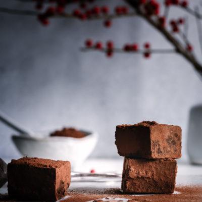 Schokoladen, Gin & Ingwer Trüffel mit Needle Blackforest Gin aus dem Schwarzwald
