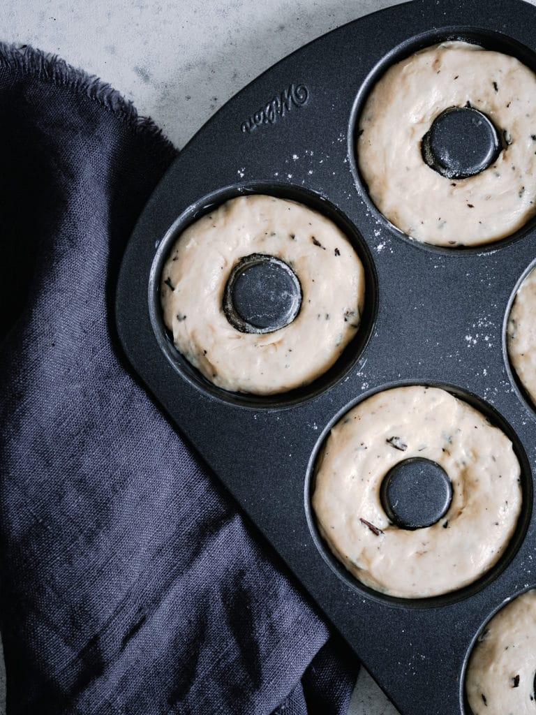 Teig für vegane Donuts in backform