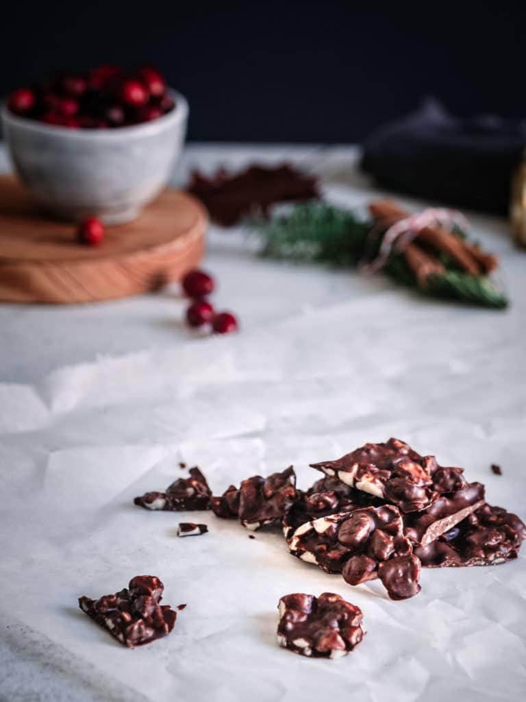 Macadamia Schokoladen Brittle