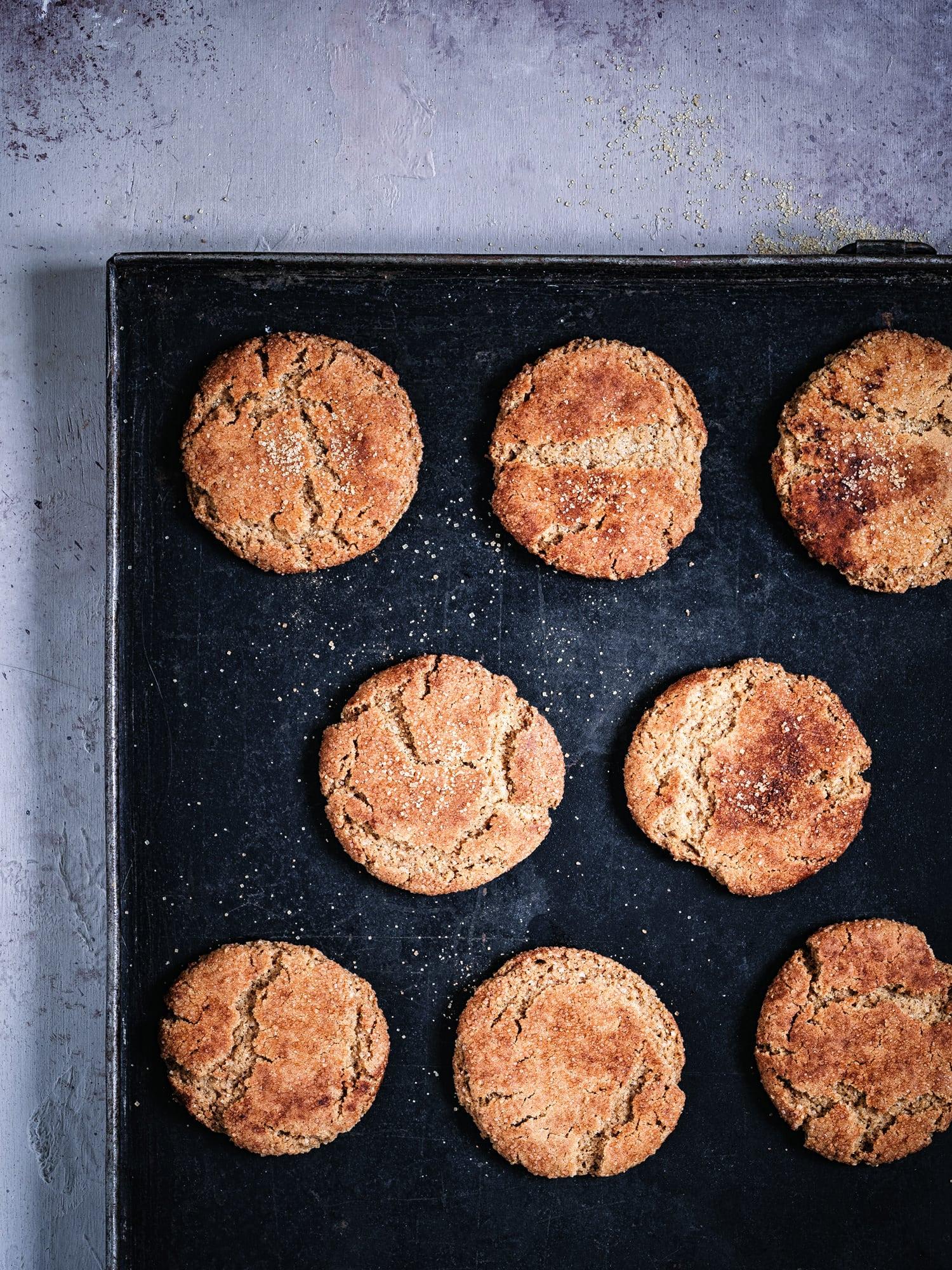 Vegane Plätzchen frisch aus dem Ofen
