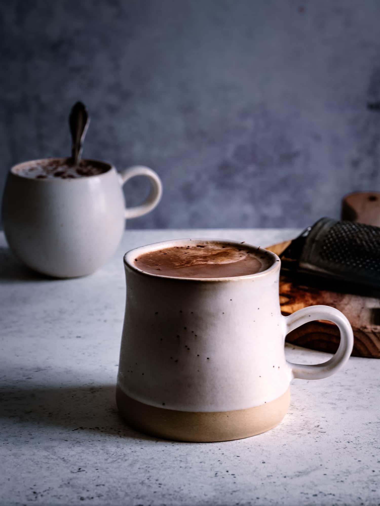Reishi Schokolade in Tasse