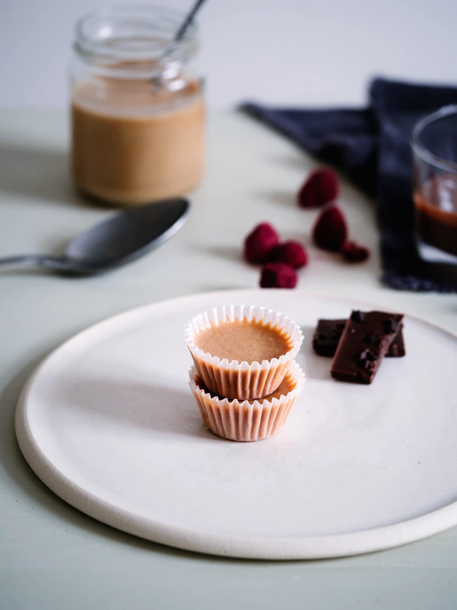 Vegan und Paleo tauglich :zuckerfreie Erdnussbutter Cup