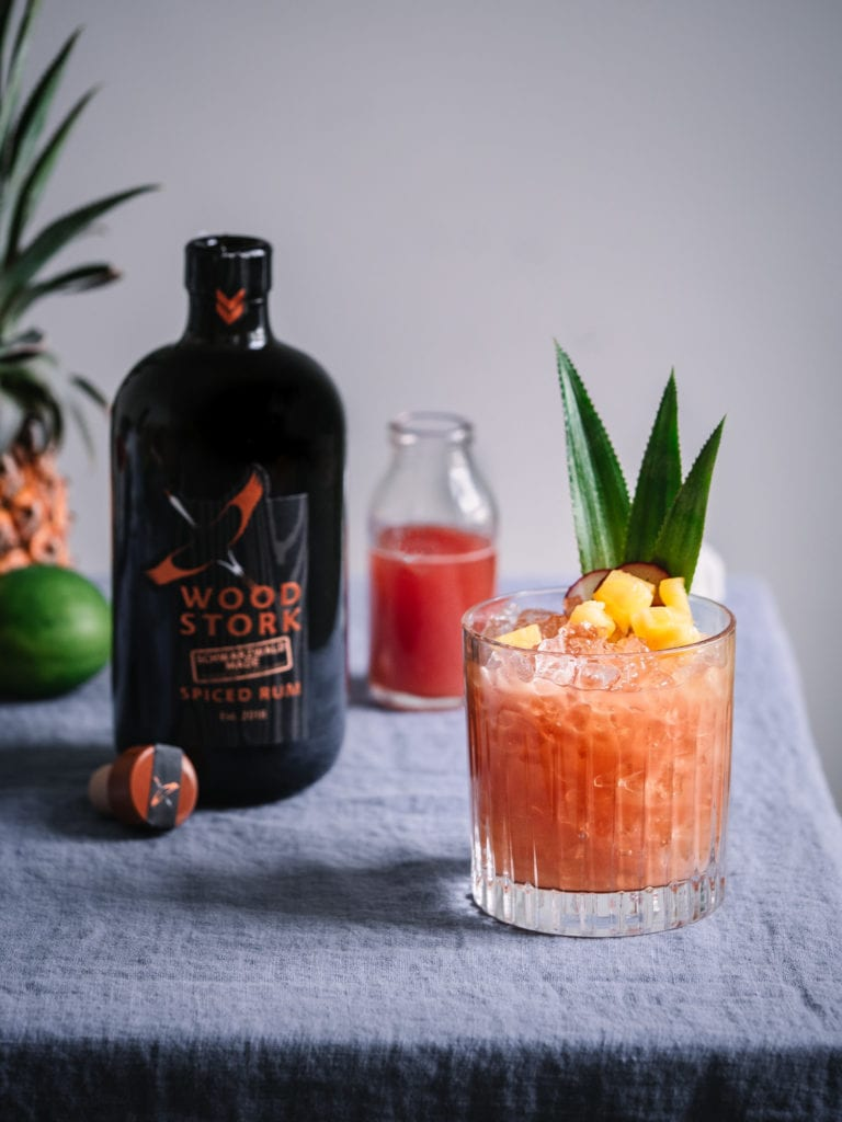 Rum cocktail für den Sommer