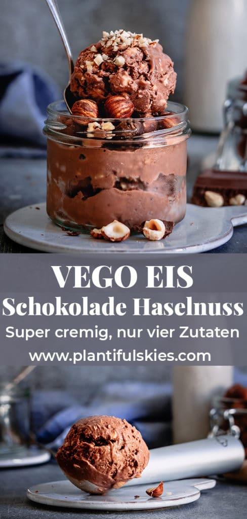Veganes Schokoeis mit Vego Schokolade. Nur 4 Zutaten. Vegane Eisrezepte. Eis einfach selber machen. Gesunde Eisrezepte #happy.mood.food #eis #sommerrezepte