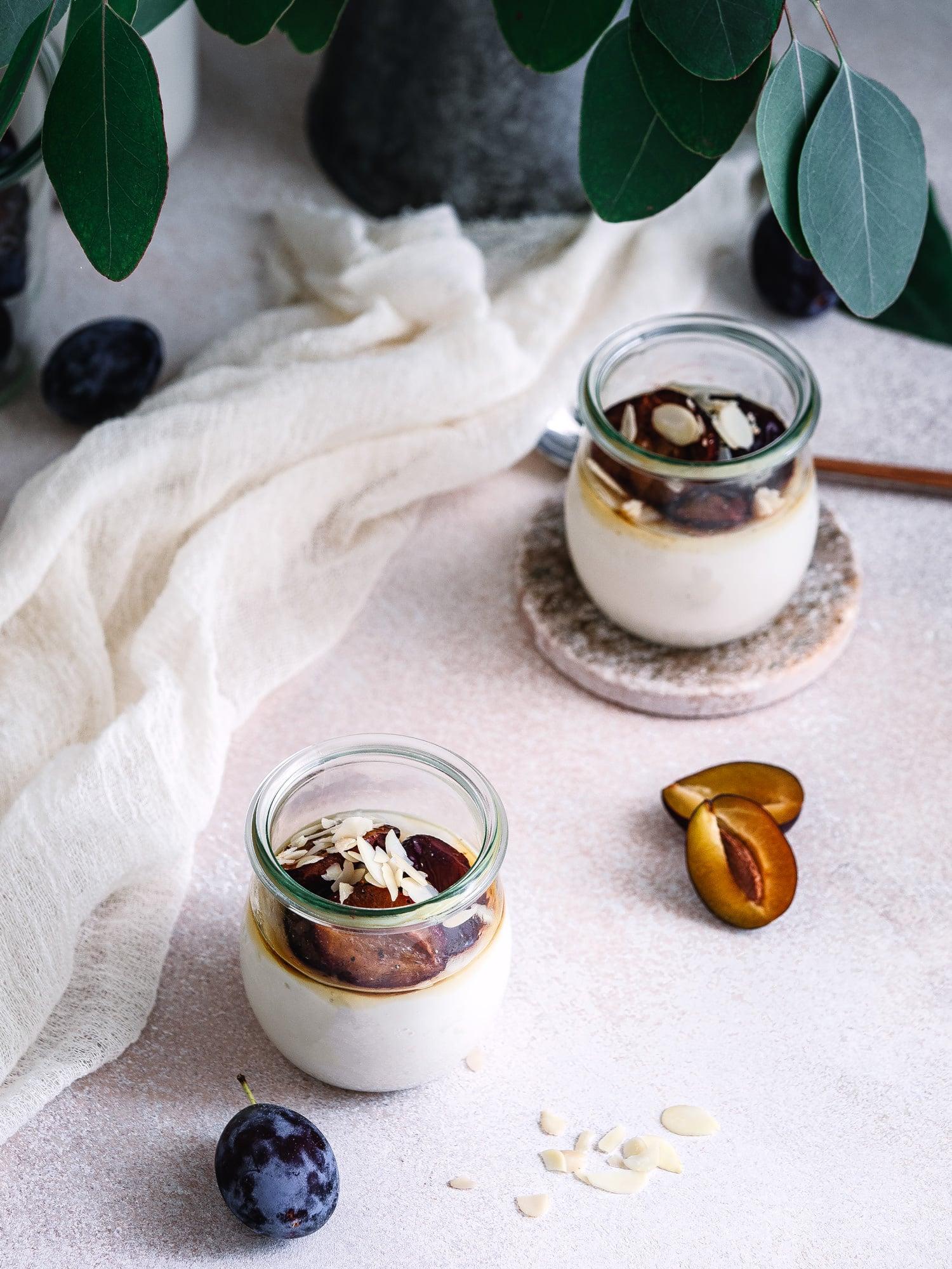 Mandelpudding Rezept für zwei Portionen