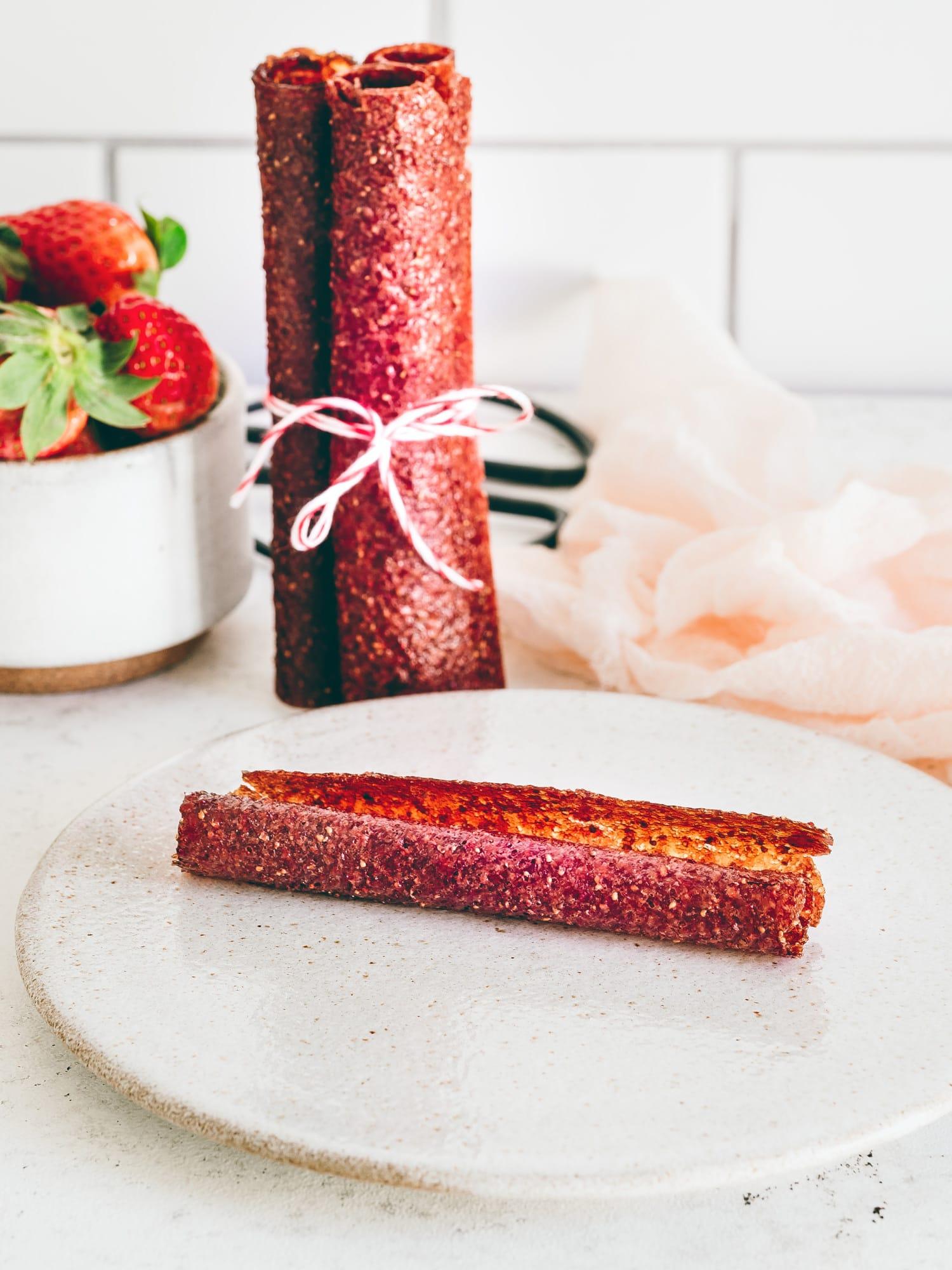 Erdbeer und Minze Fruchtleder