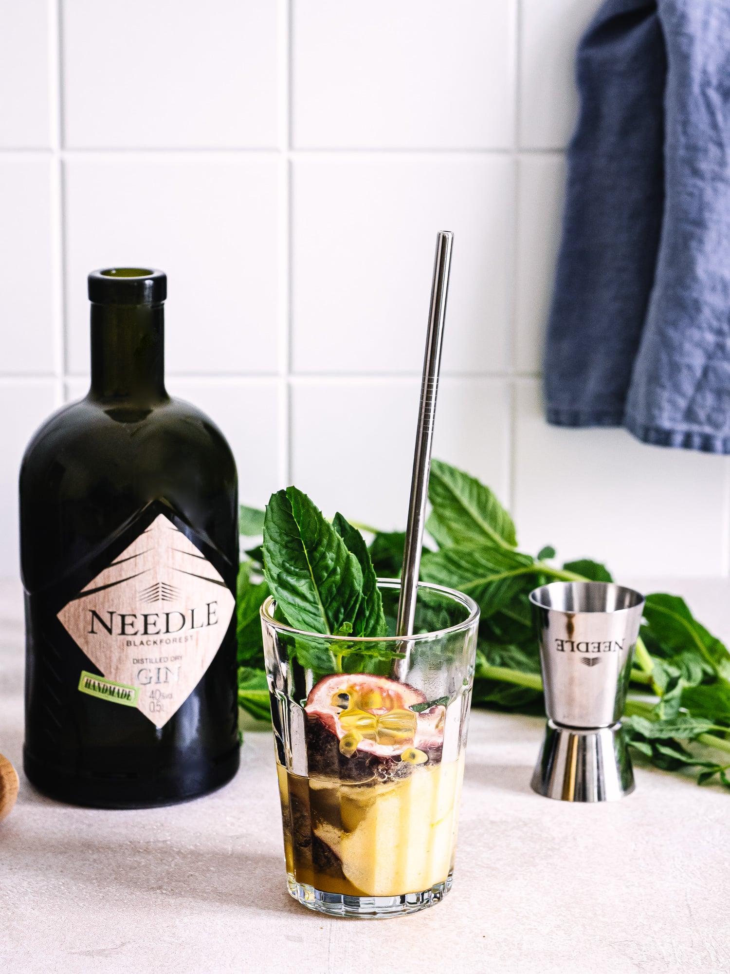 Gin Rezepte für den Sommer: Passionsfruchtsorbet und Gin
