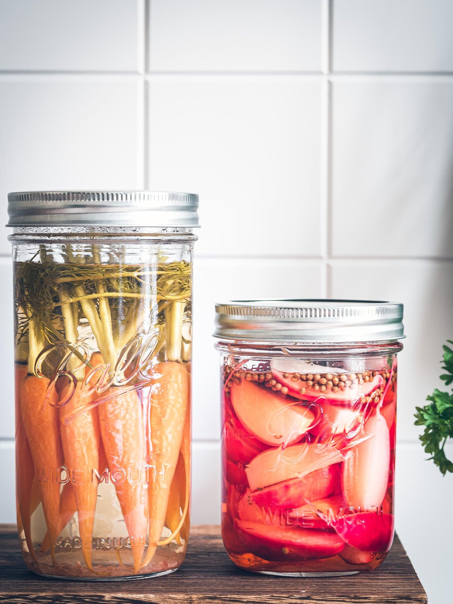 Quick Pickle Gemüse fürs Smørrebrød