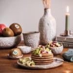 Gesundes Pancakes aus Buchweizen mit Zespri Kiwi Salat
