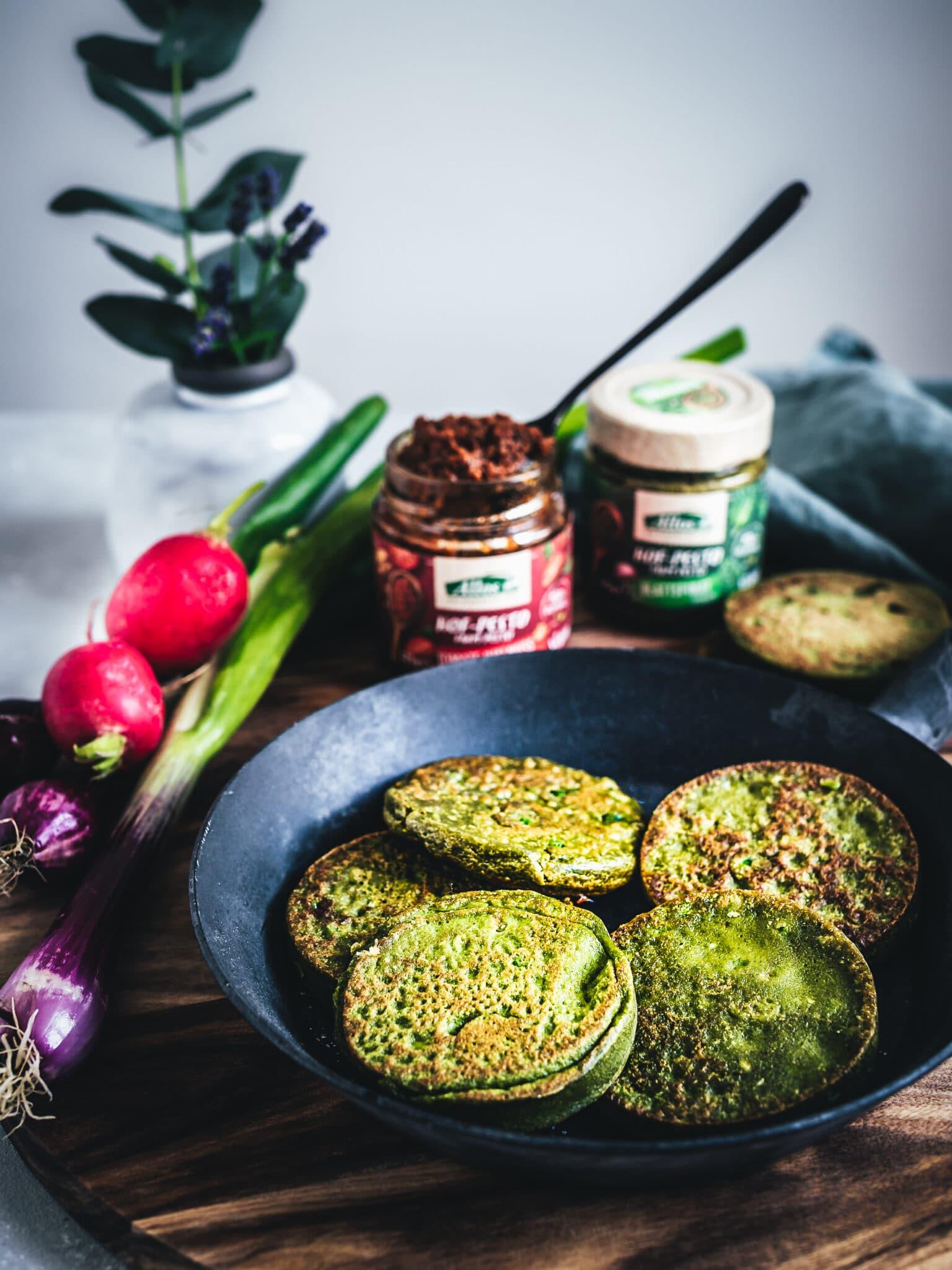 Herzhafte vegane Pfannkuchen